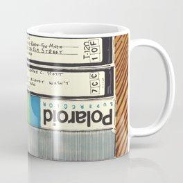 VHS & Wooden Wall Coffee Mug