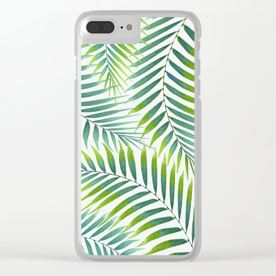 Palm leaves VI Clear iPhone Case