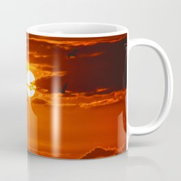 Red Sunset2 False Bay Coffee Mug