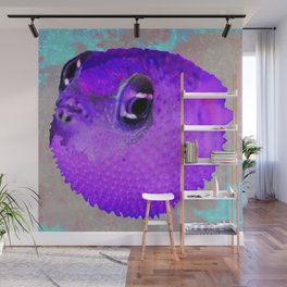 Pucker Up Purple Pufferfish Wall Mural