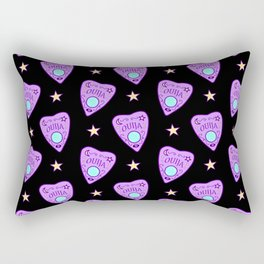 Planchette Pattern on Black Rectangular Pillow