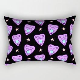 Planchette Pattern on Black Rectangular Pillow