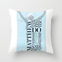 Woman in Matthew by HeavenNezCree Throw Pillow