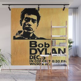 Vintage 1964 Bob Dylan at Wilson High School Poster Wall Mural