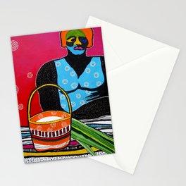 Australia Kakadu Indigenous Pandanus Basket Northern Territory Aboriginal Stationery Cards