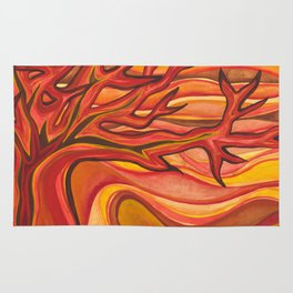 The Tree on Fire Rug