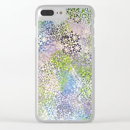 Pastel Pattern Clear iPhone Case