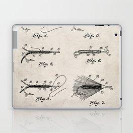 Fly Fishing Patent - Fisherman Art - Antique Laptop & iPad Skin