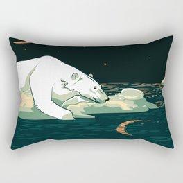 Polar Bear and the Moon Rectangular Pillow