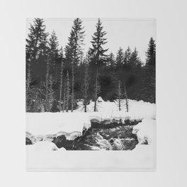 St. Helens Snowshoe + River Throw Blanket