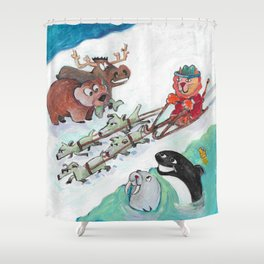 Alaska Cats Shower Curtain