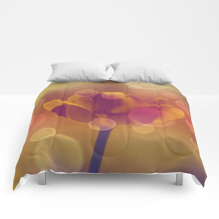 Golden Bubbles N Tulip Comforters