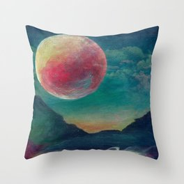 On The Nature Of Moonlight Throw Pillow