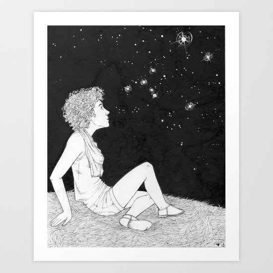They Just Blink at Us (Sirius) Art Print