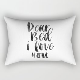 printable wall art, dear bed i love you,funny poster,bedroom sign,bedroom decor,bedroom wall art Rectangular Pillow