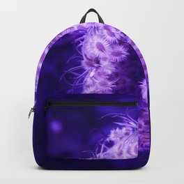 Dark Purple Closing Queen Anne's Lace Backpack