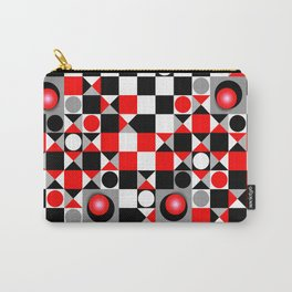 Cute Patterns in red, black and grey Carry-All Pouch