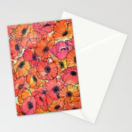 Poppy Pandemonium  Stationery Cards