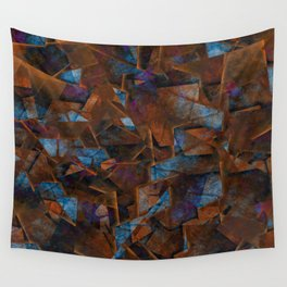 Frsgments In Bronze - Abstract Textured Art Wall Tapestry
