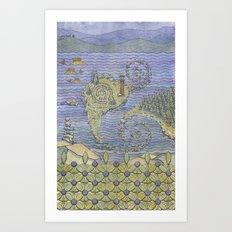 The North Summer. White Sea. Art Print