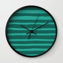 I Got Stripes in Teal Wall Clock