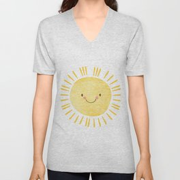 Sunshine Nursery Print Unisex V-Neck