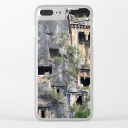 Rock Tombs Photograph Fethiye Clear iPhone Case