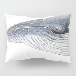Humpback whale portrait Pillow Sham