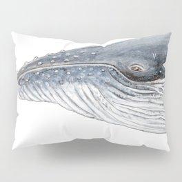 Humpback whale portrait Pillow Sham