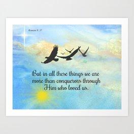 More Than Conquerors Art Print