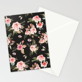 Pink flowering in the dark I Stationery Cards