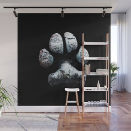 Dog Paw Print Pop Art Animal Lovers - South Paw Wall Mural