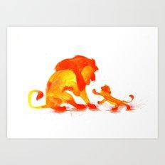 The Lion King Watercolour Art Print