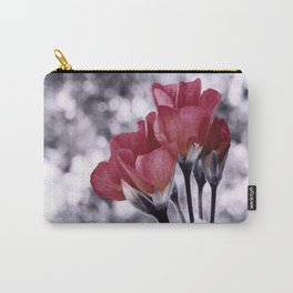 Flowers Pop of Color Light Maroon Carry-All Pouch