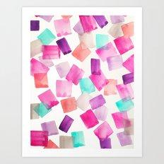 Confetti Gems | Print from original watercolor painting Art Print