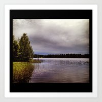 purple lake Art Print