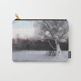 Winter sunset, northern lights Carry-All Pouch