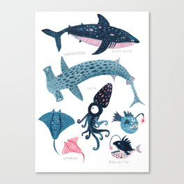 Sea Creatures Canvas Print