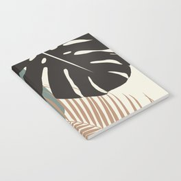 Minimal Monstera Palm Finesse #1 #tropical #decor #art #society6 Notebook