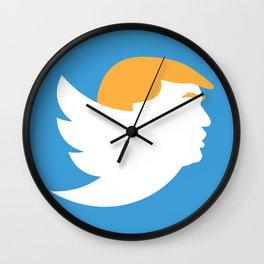 Twump JUMBO Logo - White Wall Clock