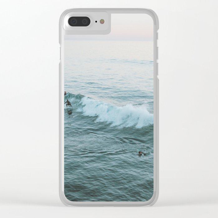 Let's Surf V Clear iPhone Case