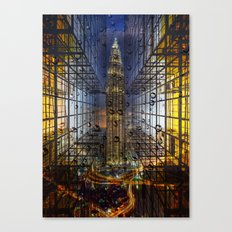 Rain in a City Canvas Print