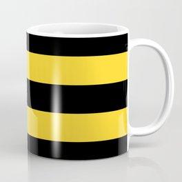 Yellow and Black Honey Bee Horizontal Cabana Tent Stripes Coffee Mug