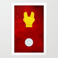 iron man Art Prints featuring Iron Man by theLinC