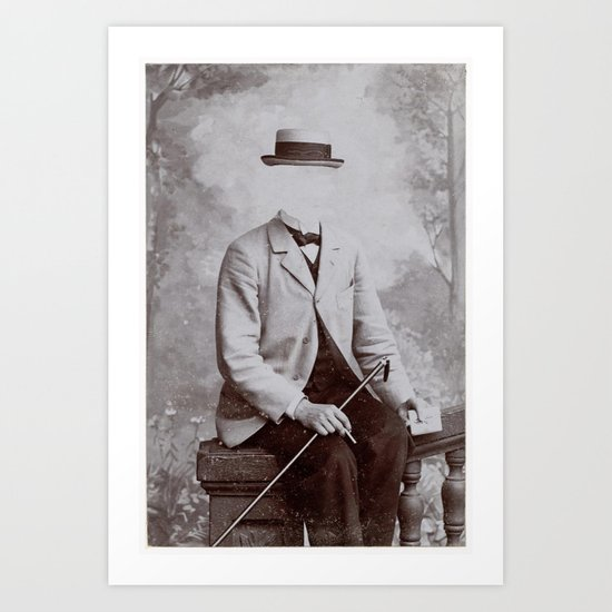 Invisible Man / Botanist (2013) Art Print