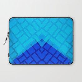 Blue Brick Two Tone Pattern Laptop Sleeve