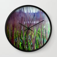weed Wall Clocks featuring weed by jmdphoto