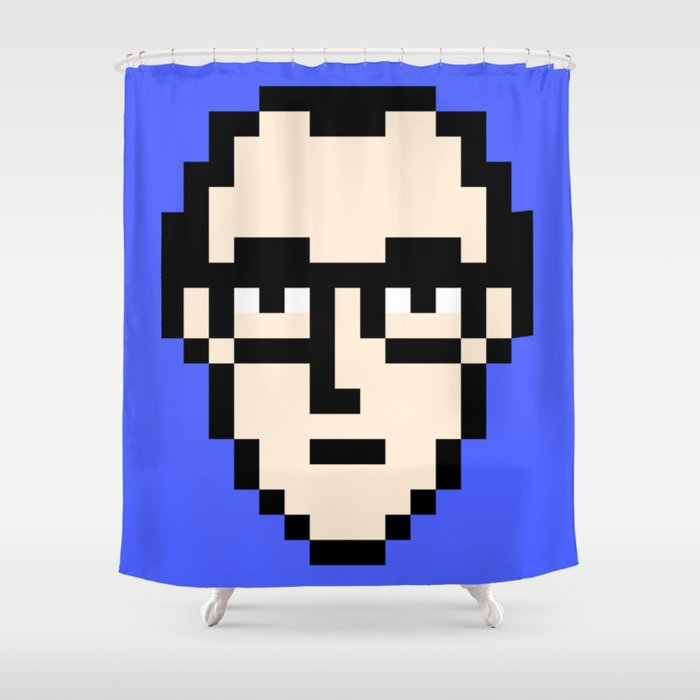 Keith Haring Minimal 8bit Tribute Shower Curtain By Bitbaba