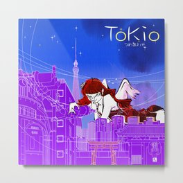 NP dot TOKYO | CITY Metal Print