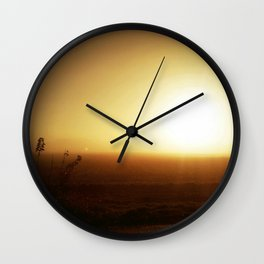 muggy morning Wall Clock